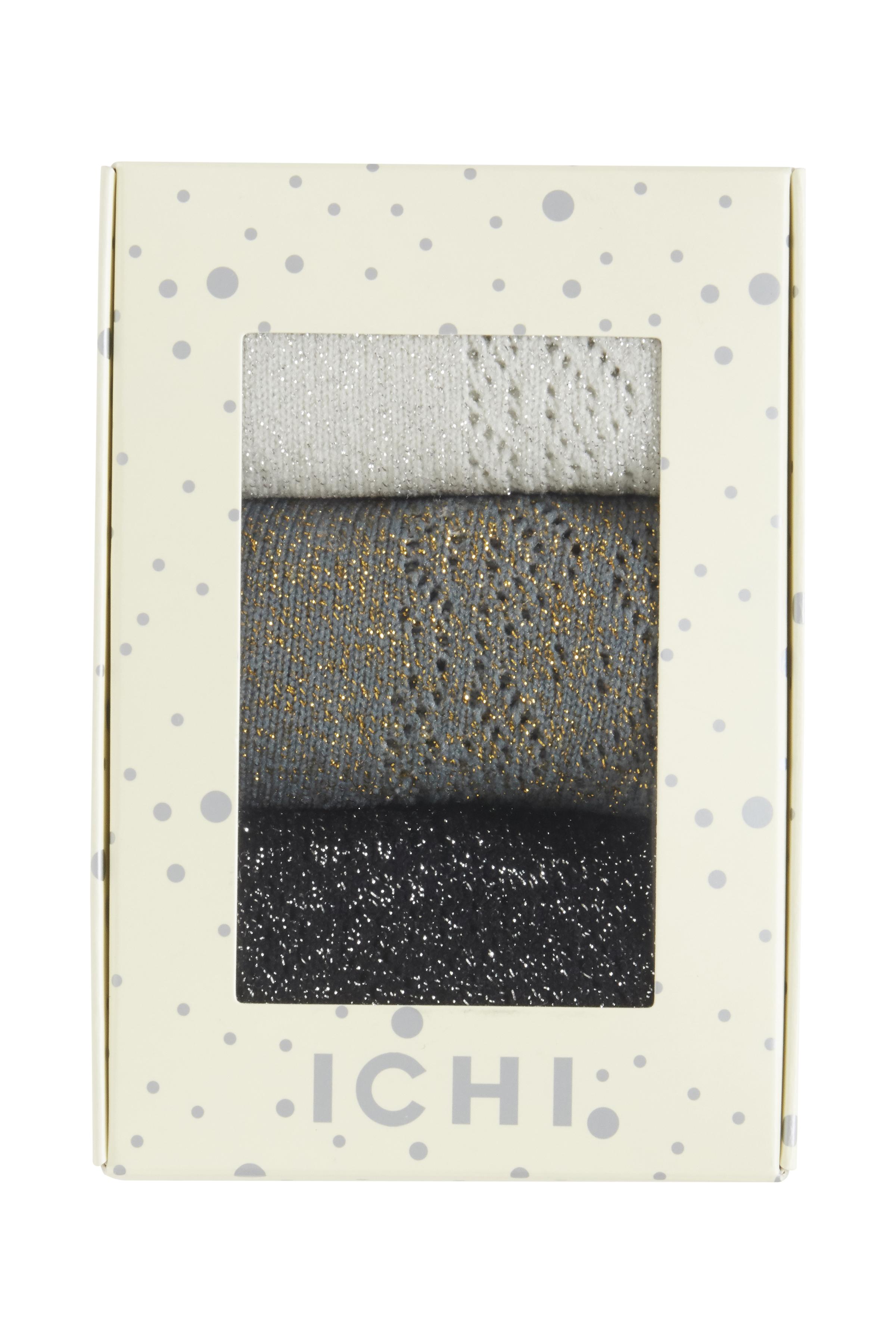 3 Pack Socks fra Ichi - accessories – Køb 3 Pack Socks fra str. ONE her