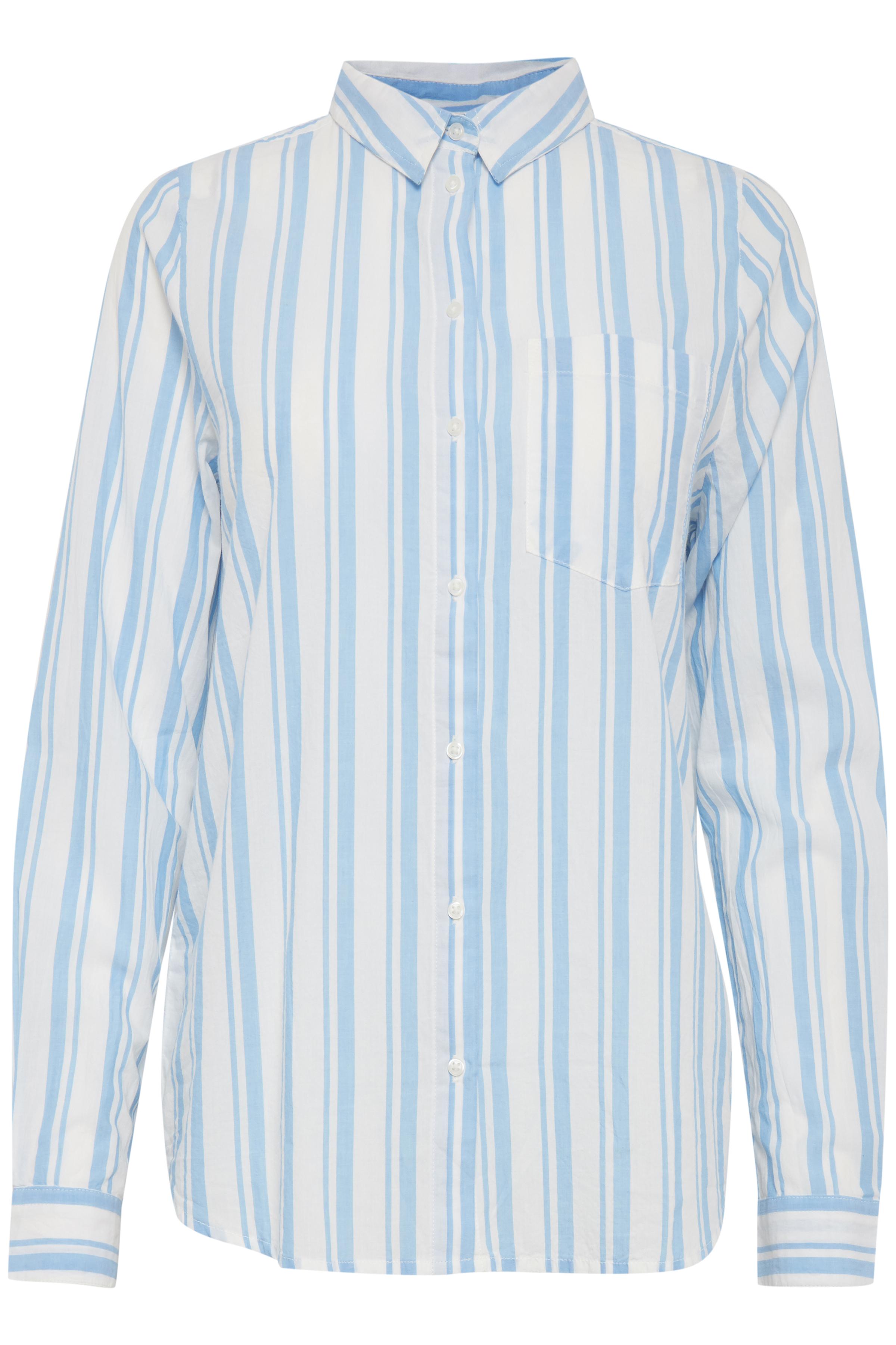 Azure Blue Langærmet skjorte – Køb Azure Blue Langærmet skjorte fra str. 36-42 her