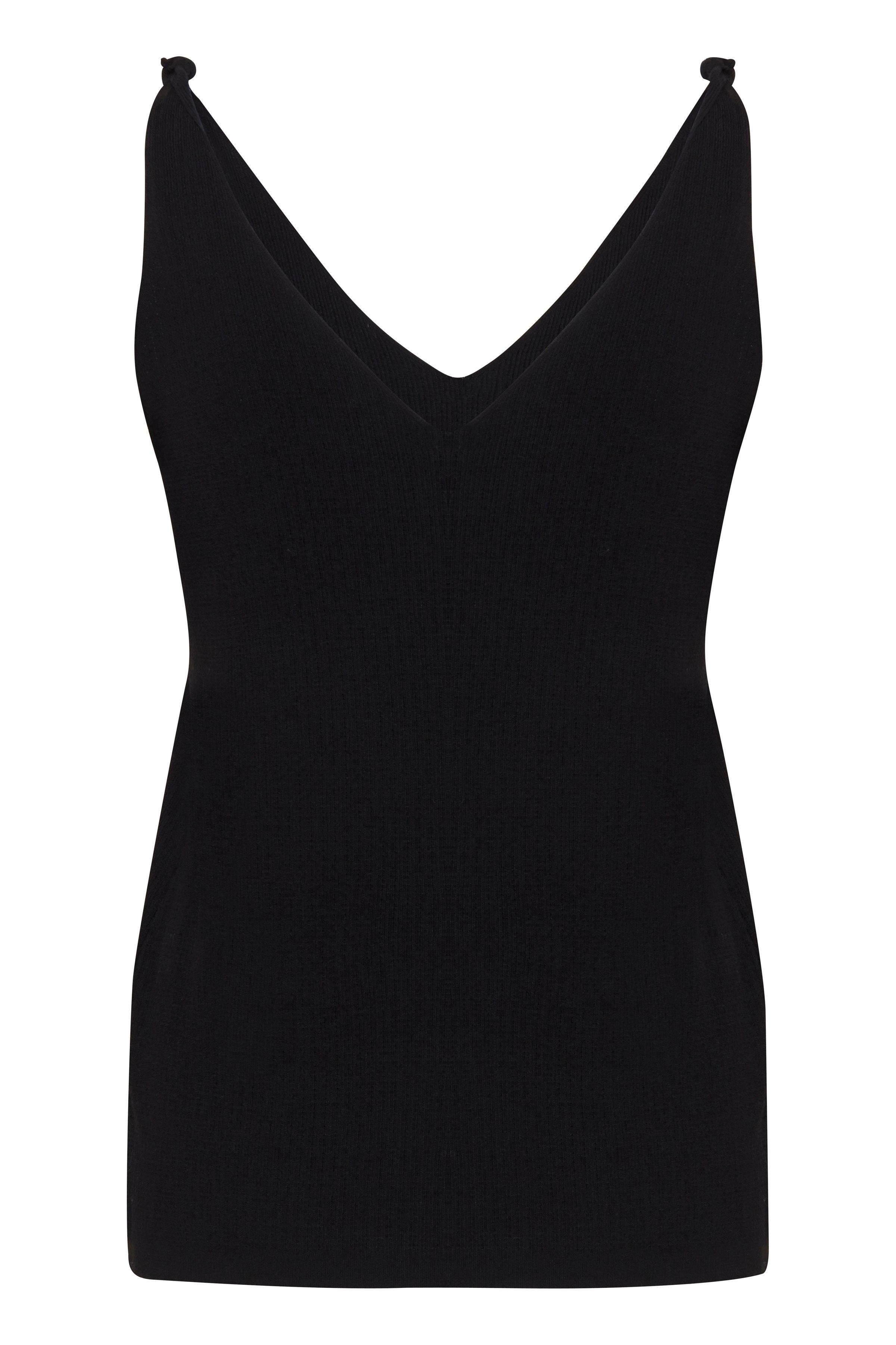 Black Jersey top fra Ichi – Køb Black Jersey top fra str. XS-XL her