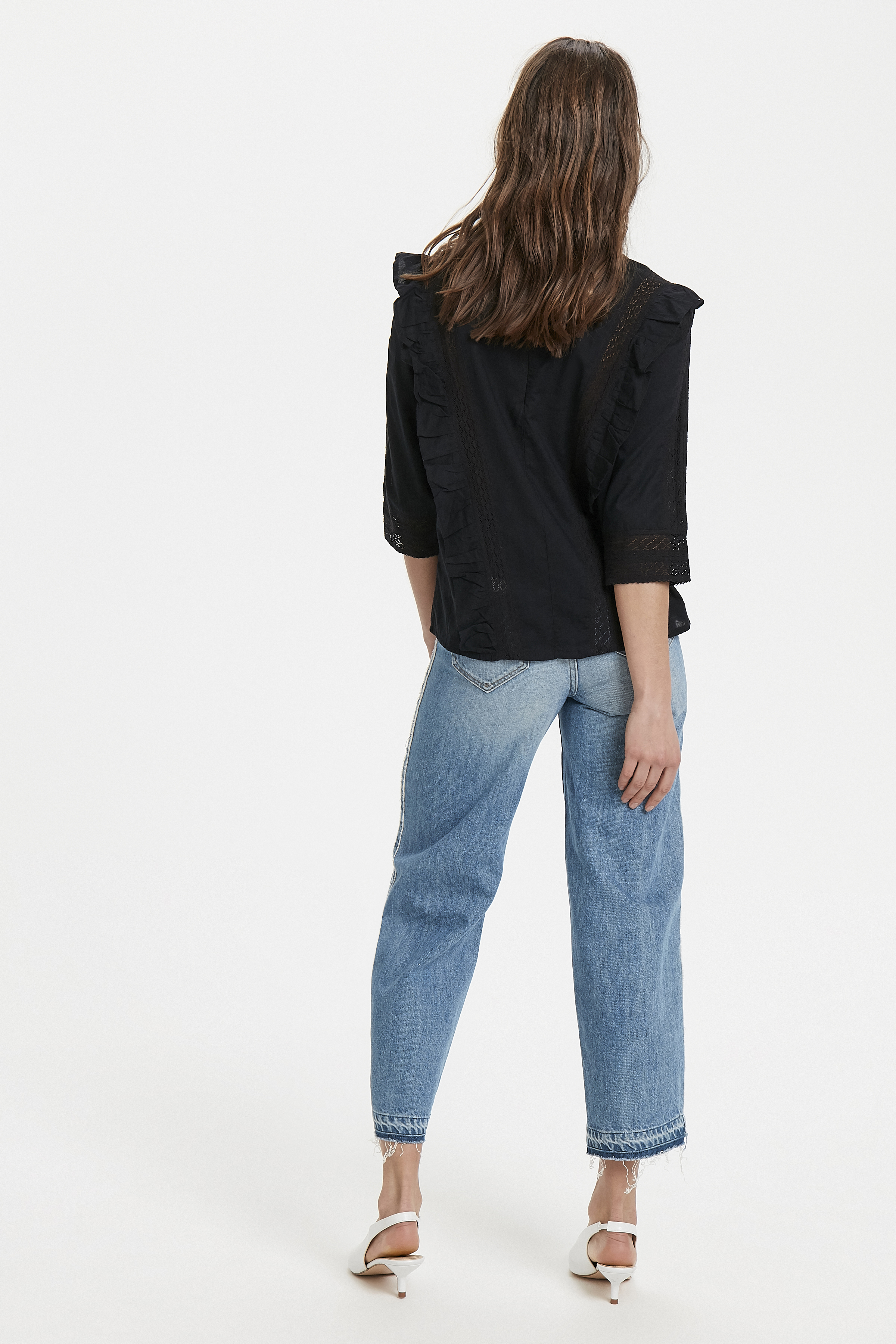 Black Long sleeved shirt fra Ichi – Køb Black Long sleeved shirt fra str. 34-42 her