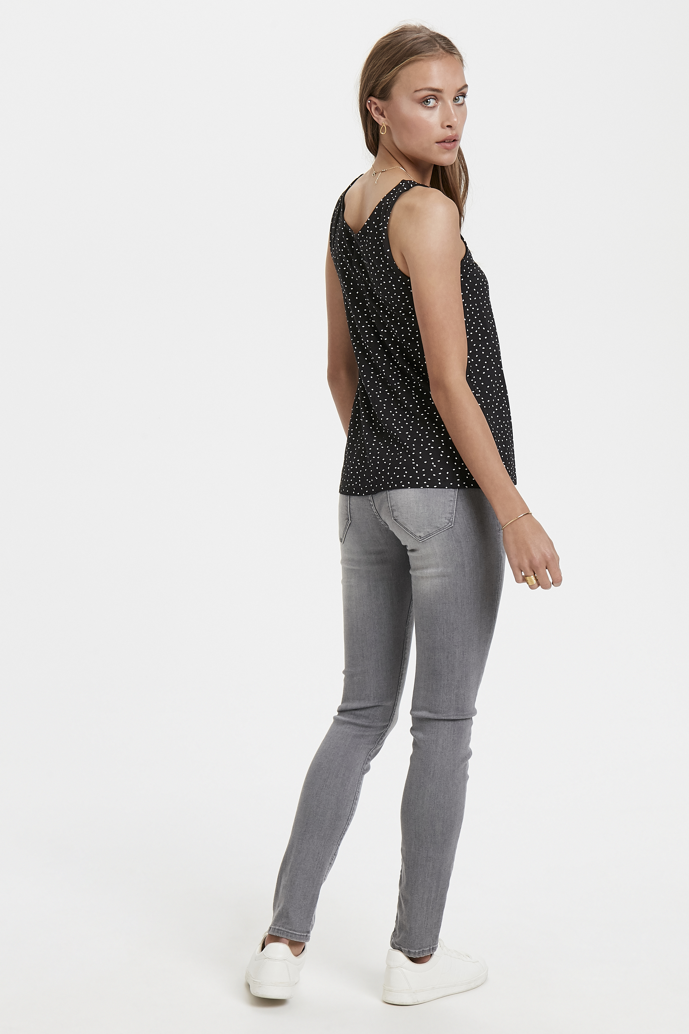 Black Printed Jerseytop – Køb Black Printed Jerseytop fra str. XS-XL her