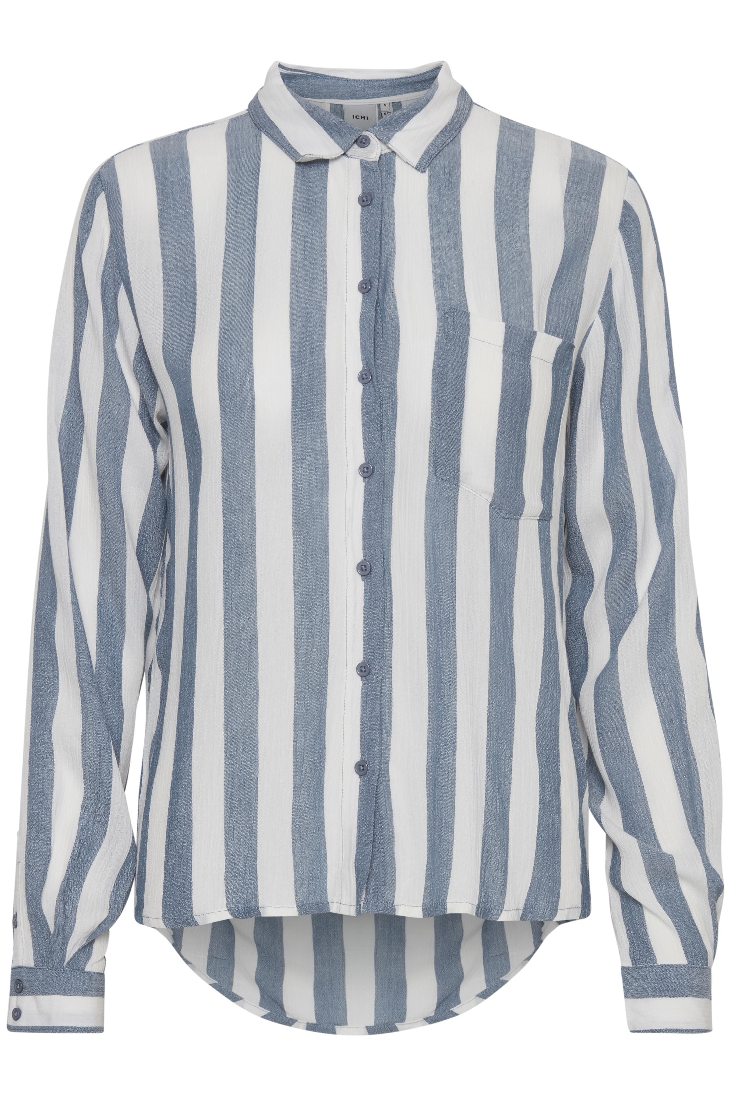 Blue Mirage Long sleeved shirt fra Ichi – Køb Blue Mirage Long sleeved shirt fra str. XS-XL her