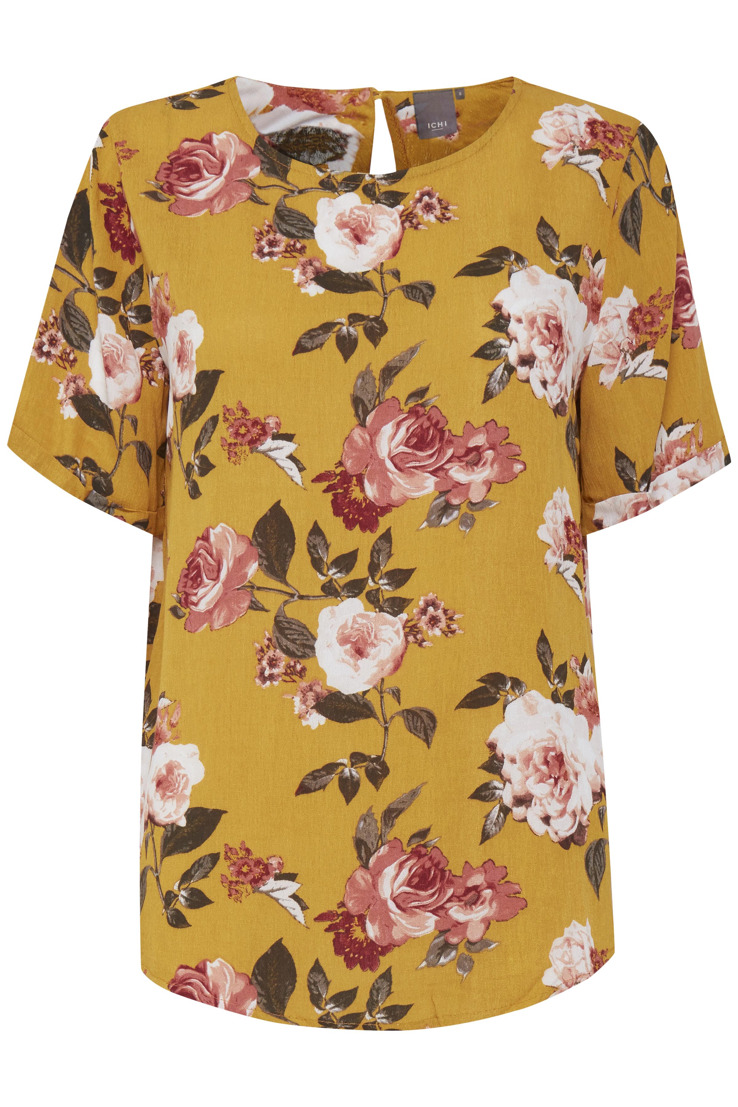 Citrus Shirt with short sleev fra Ichi – Køb Citrus Shirt with short sleev fra str. XS-XL her