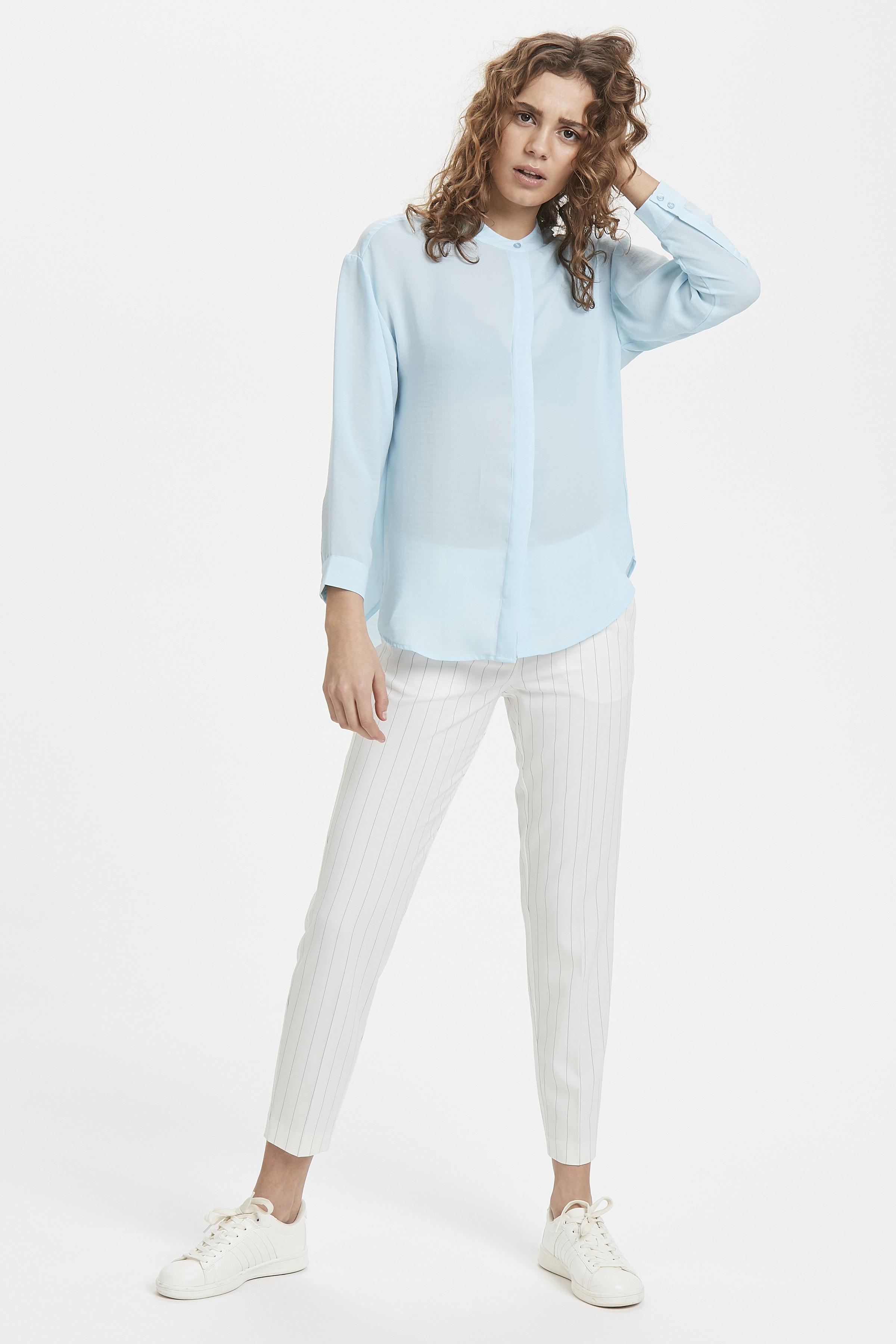 Corydalis Blue Long sleeved shirt fra Ichi – Køb Corydalis Blue Long sleeved shirt fra str. 34-42 her