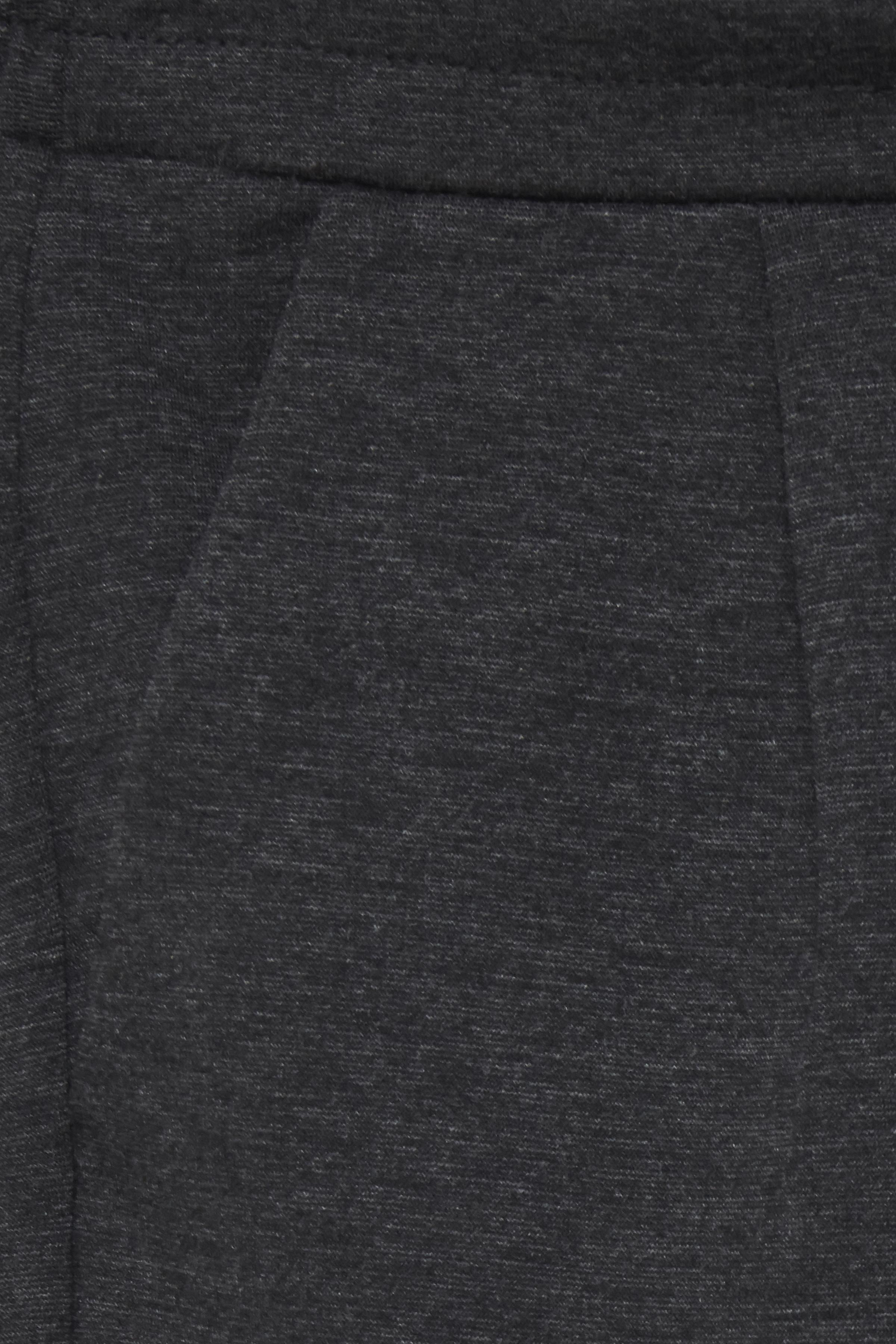 Dark Grey Melange Bukser i blød jersey - normal længde  – Køb Dark Grey Melange Bukser i blød jersey - normal længde  fra str. XS-XXL her