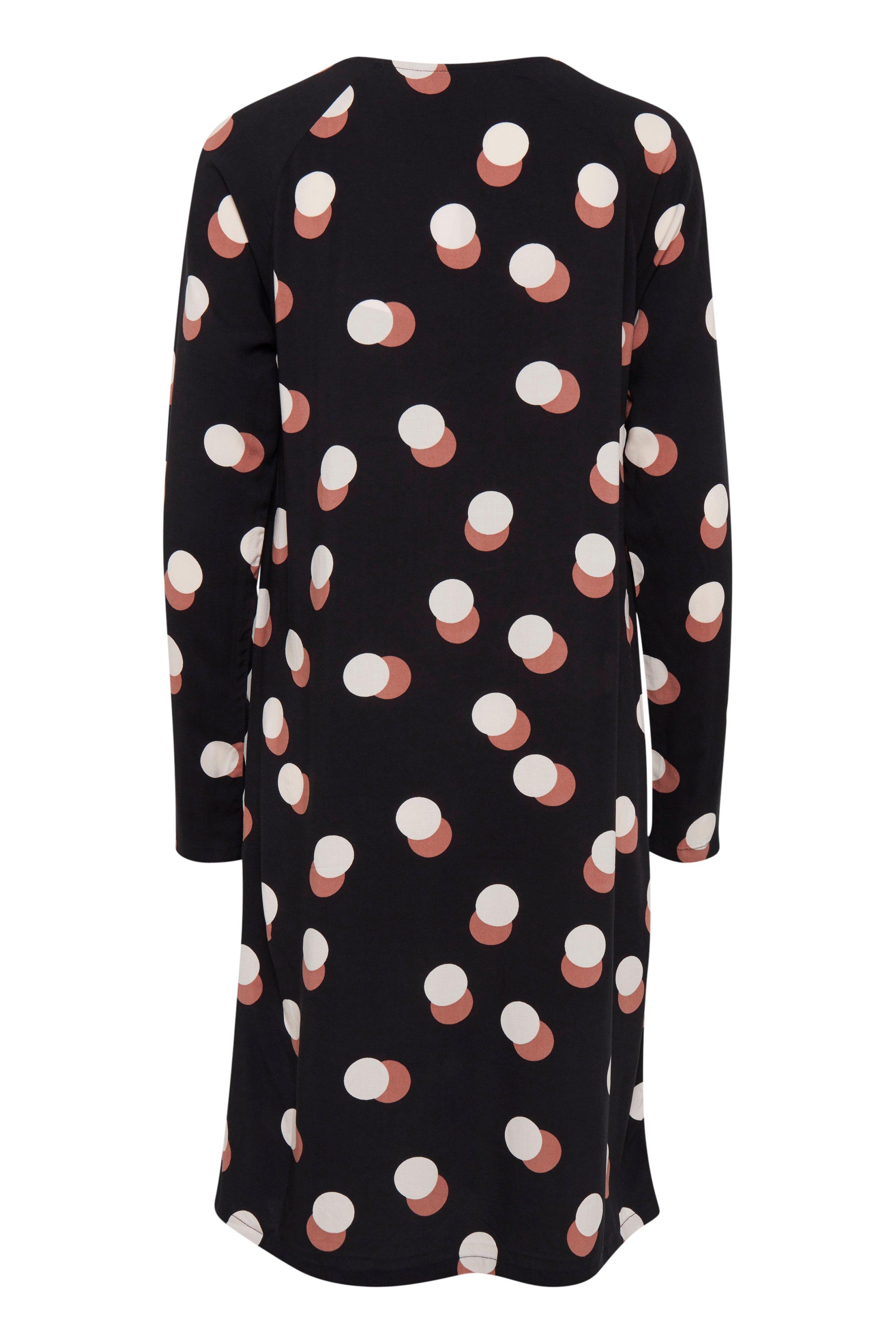 Dark Navy Dot Kjole – Køb Dark Navy Dot Kjole fra str. S-XXL her