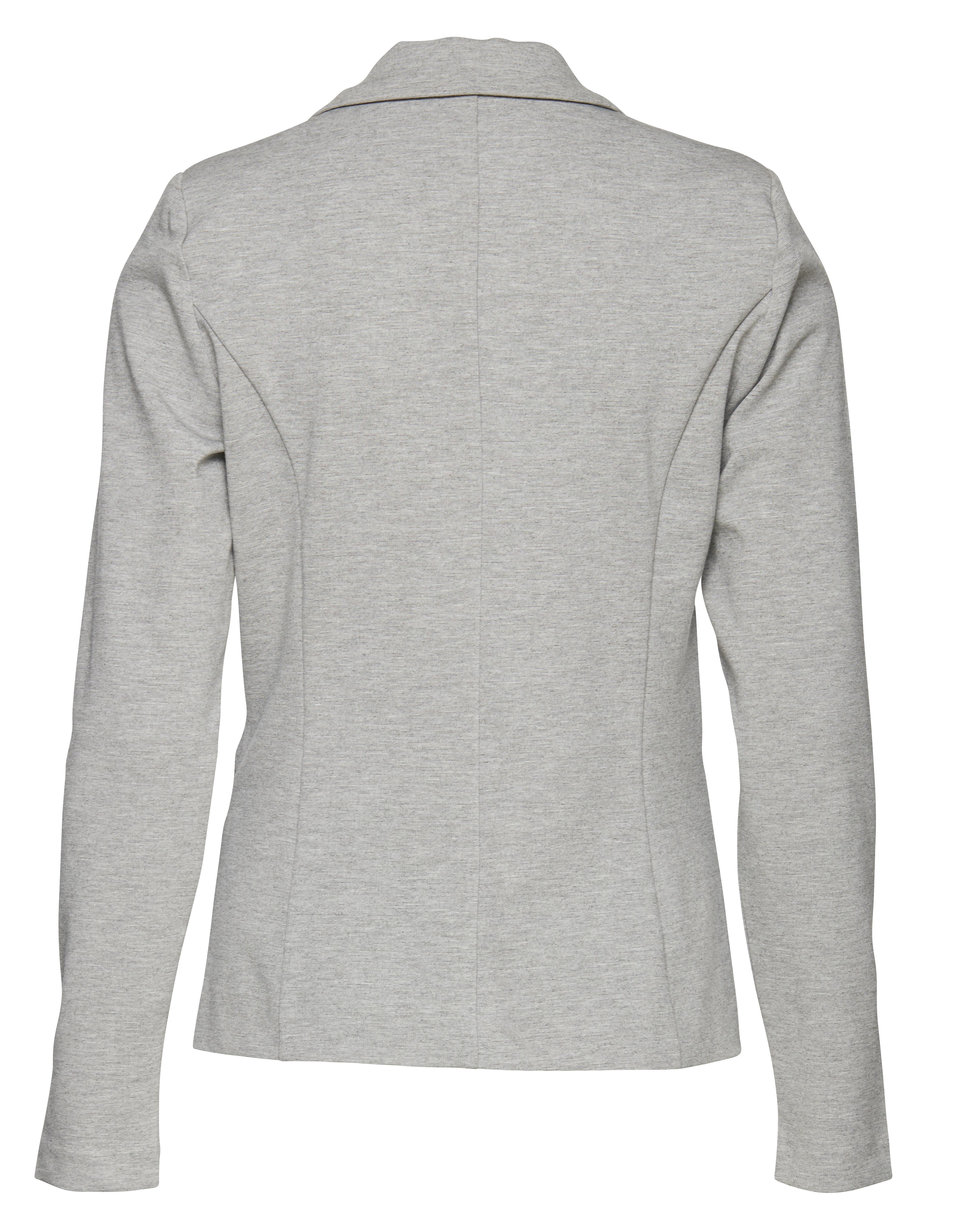 Grey Melange Blazer – Køb Grey Melange Blazer fra str. XS-XXL her
