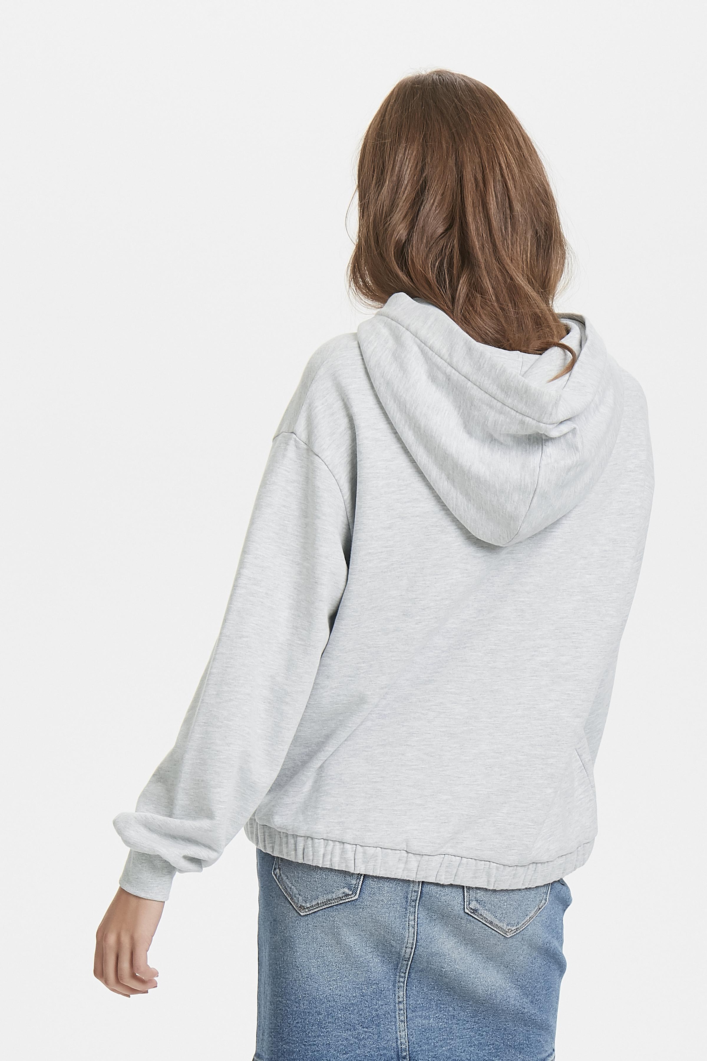 Grey Melange Hættebluse – Køb Grey Melange Hættebluse fra str. XS-XL her