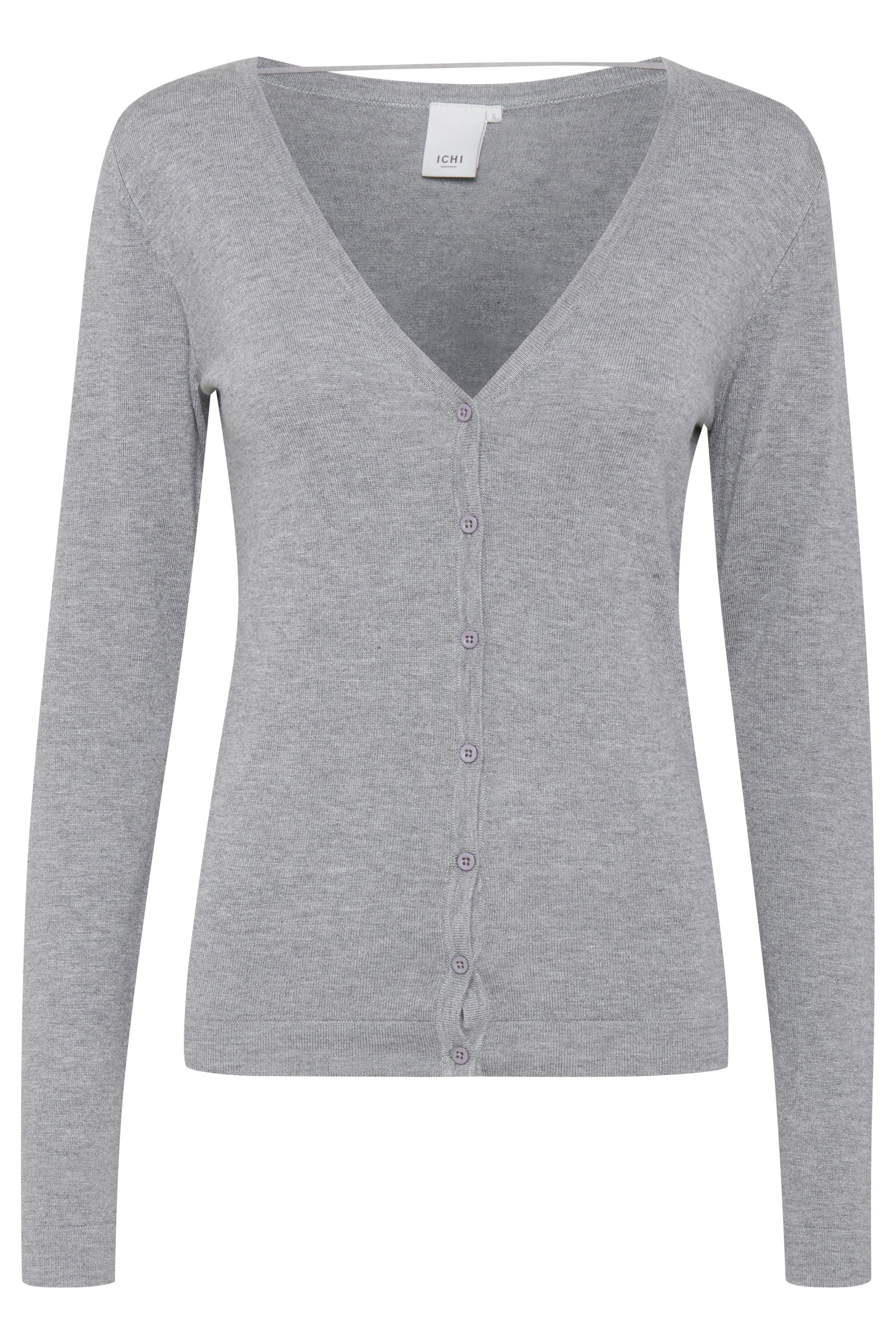 Grey Melange Strikcardigan – Køb Grey Melange Strikcardigan fra str. XS-XL her