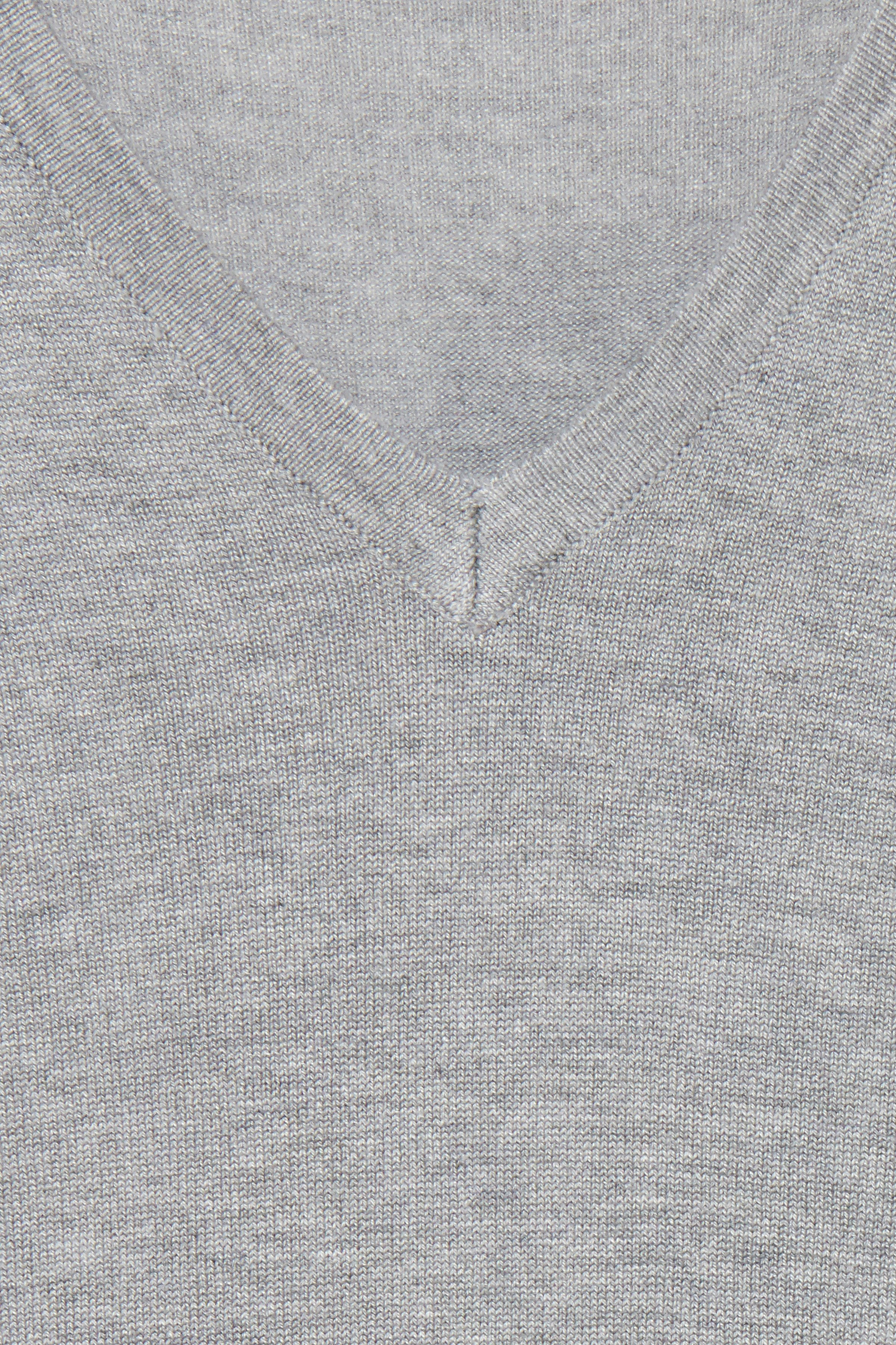 Grey Melange Strikpullover – Køb Grey Melange Strikpullover fra str. XS-XL her