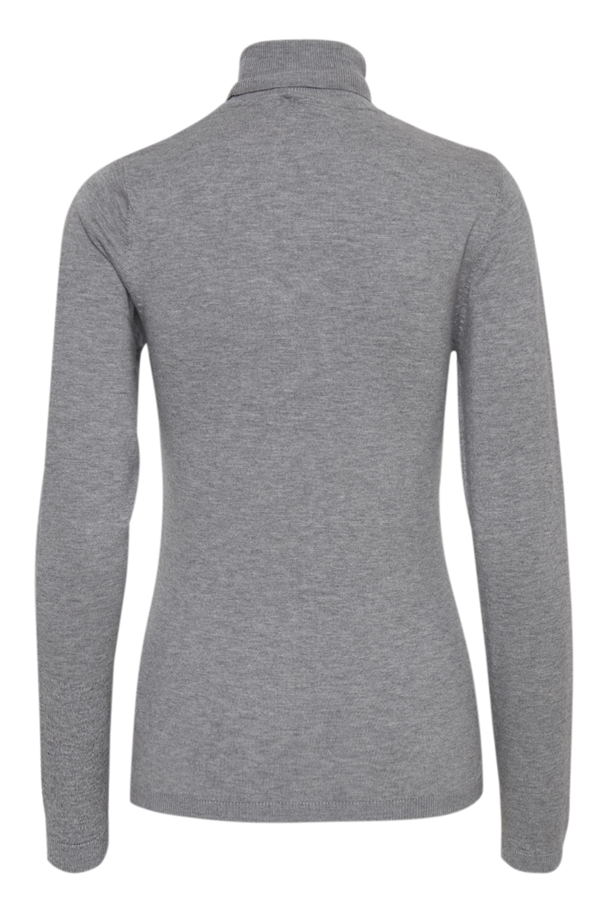 Grey Melange Strikpullover – Køb Grey Melange Strikpullover fra str. XS-XXL her