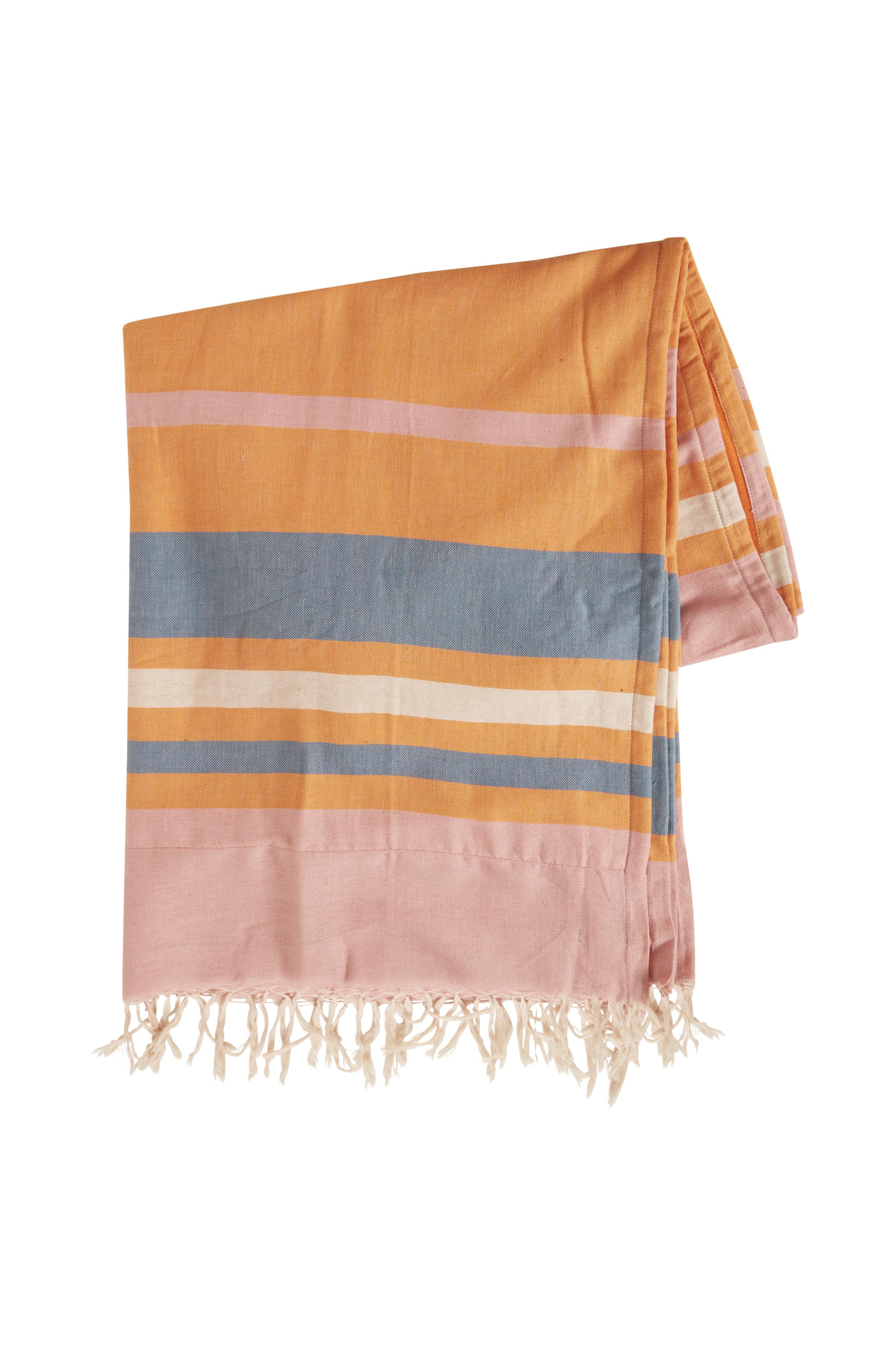 Russet Orange Beach towel  fra Ichi - accessories – Køb Russet Orange Beach towel  fra str. ONE her