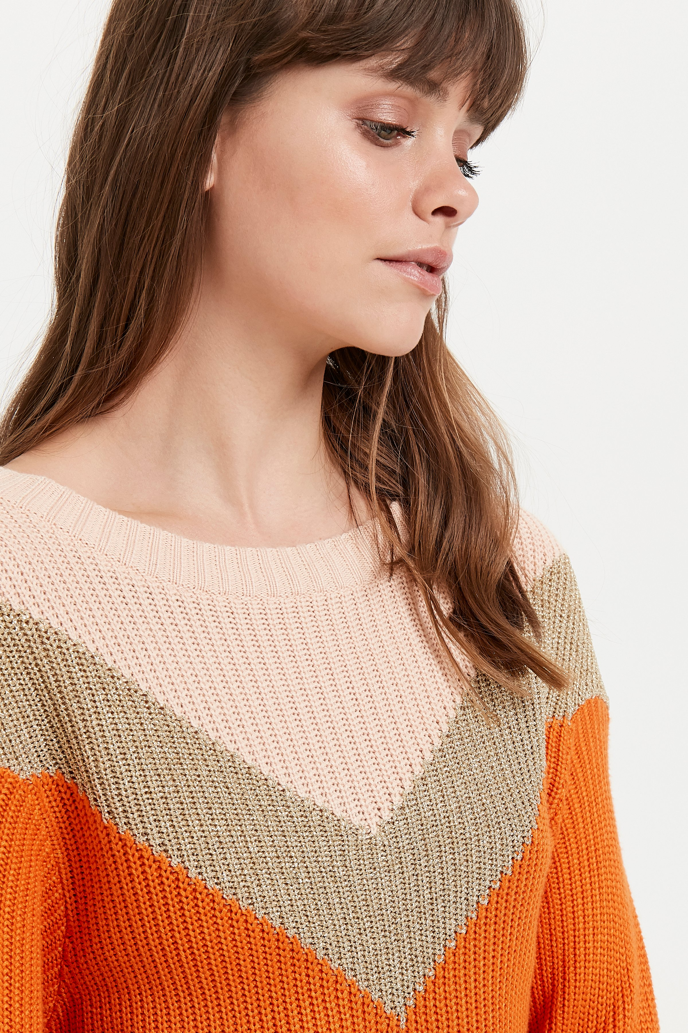 Russet Orange Knitted pullover fra Ichi – Køb Russet Orange Knitted pullover fra str. XS-XL her