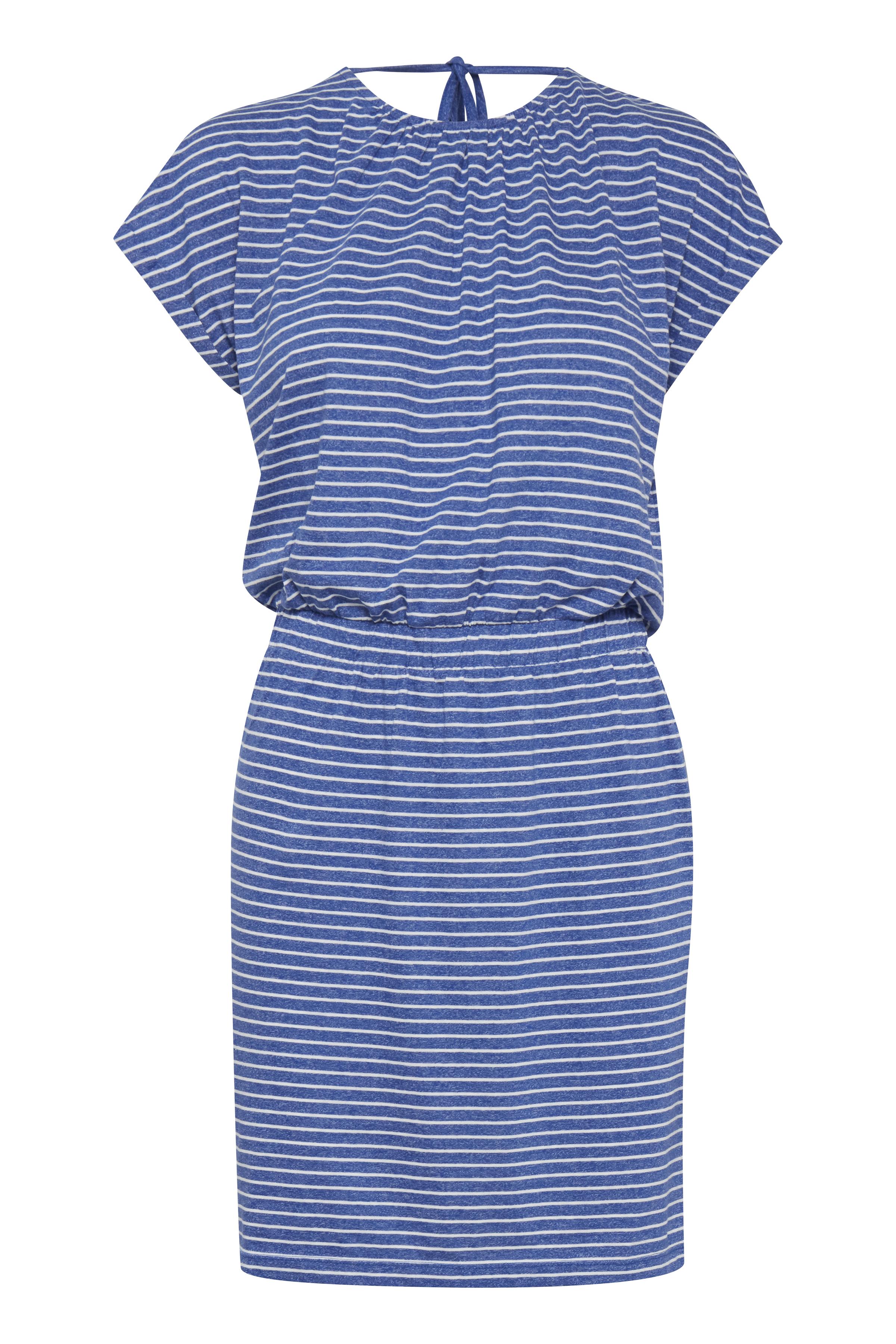 Small Stripe Mazarine Blue Jerseykjole – Køb Small Stripe Mazarine Blue Jerseykjole fra str. S-XL her