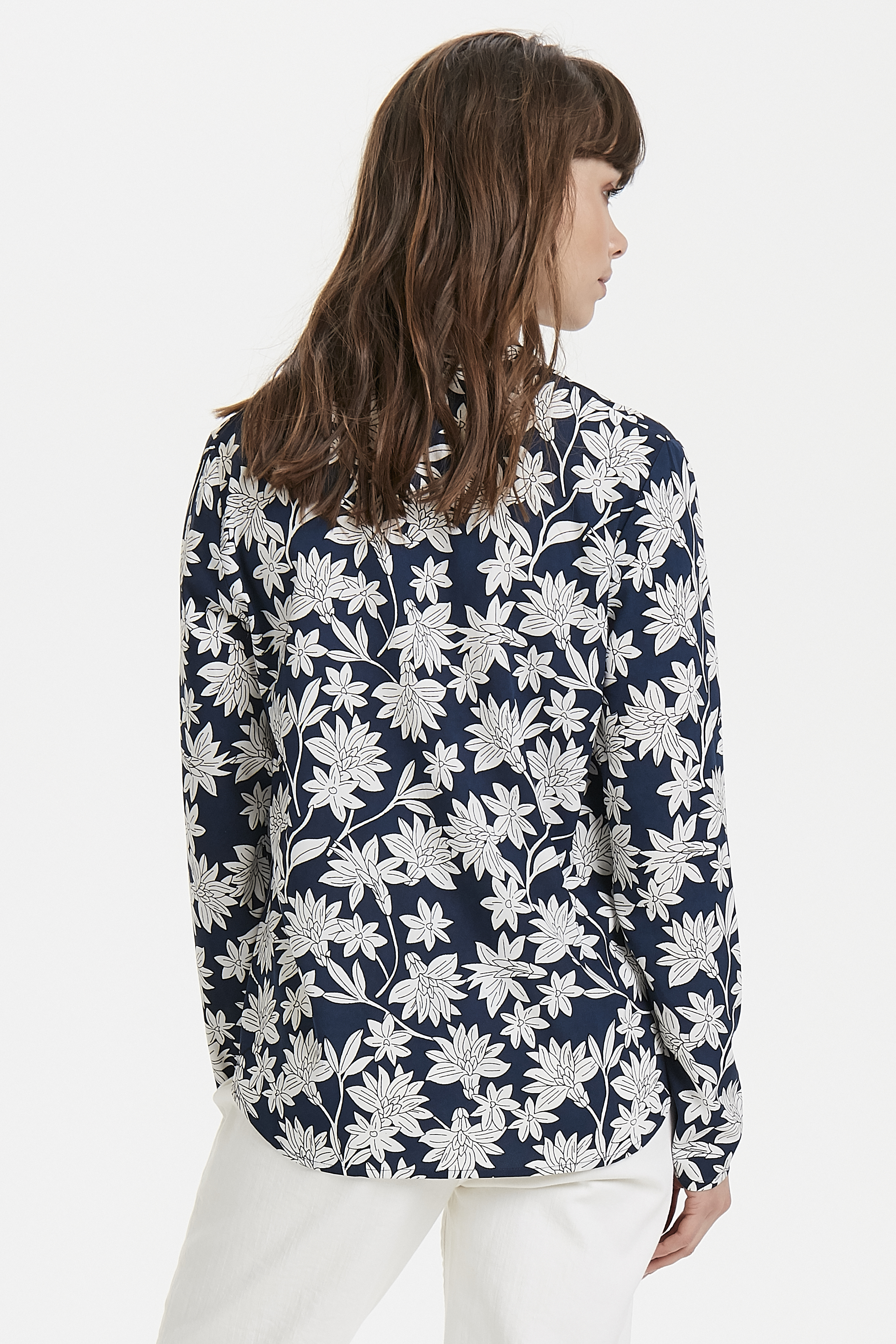 Total Eclipse Print Long sleeved shirt fra Ichi – Køb Total Eclipse Print Long sleeved shirt fra str. XS-XL her