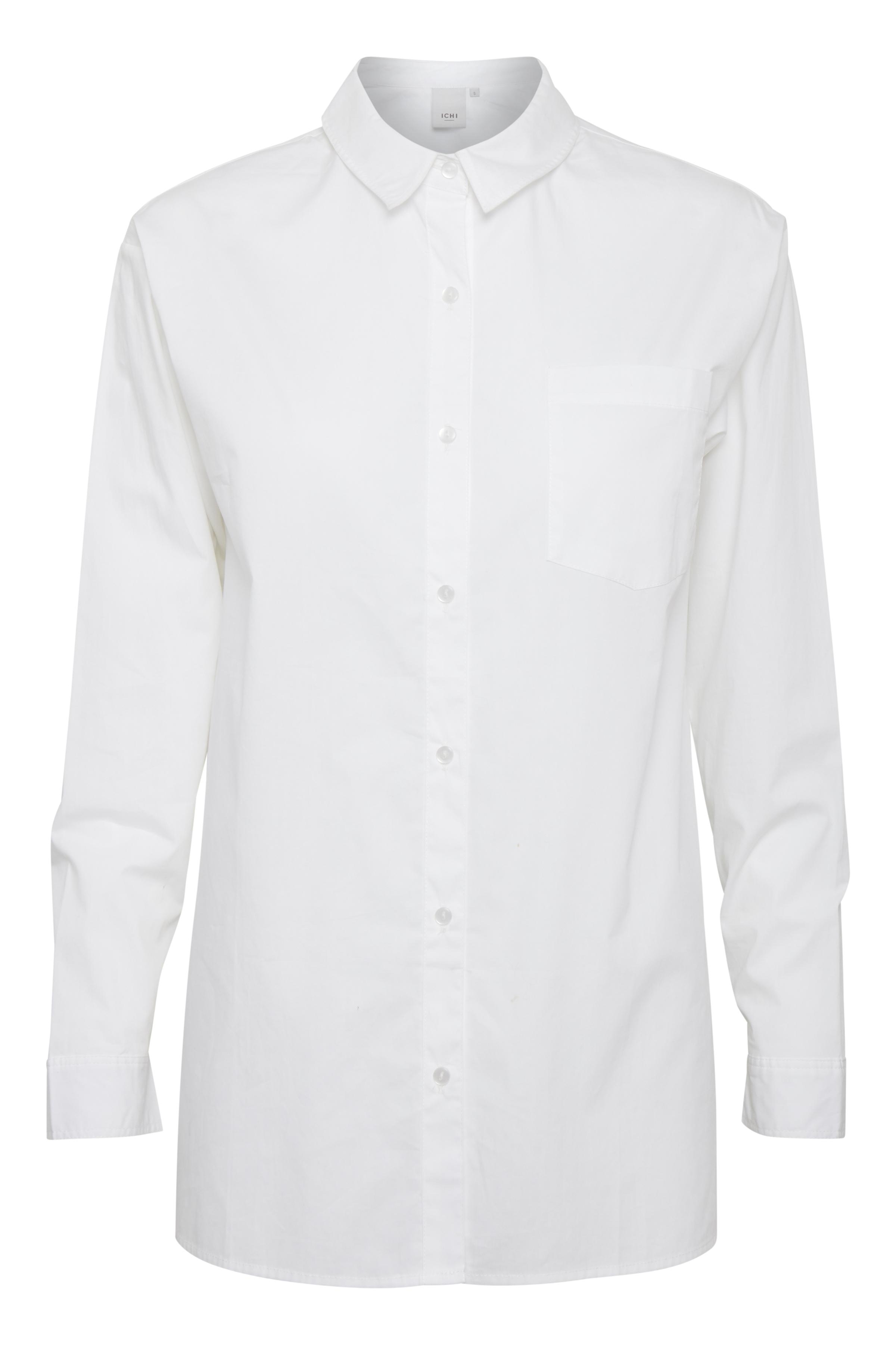 White Langærmet skjorte – Køb White Langærmet skjorte fra str. XS-XXL her
