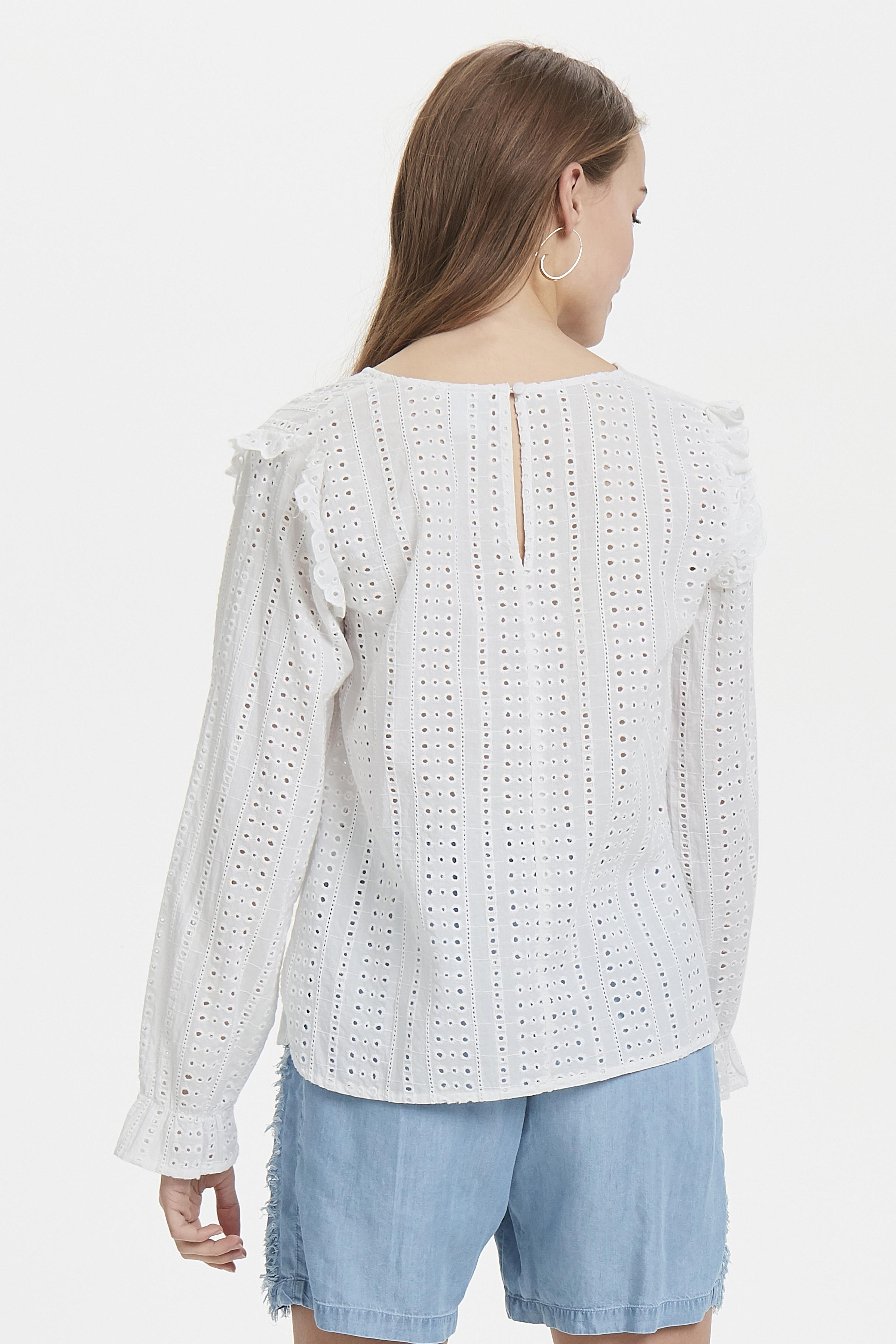 White Langærmet skjorte – Køb White Langærmet skjorte fra str. 34-42 her