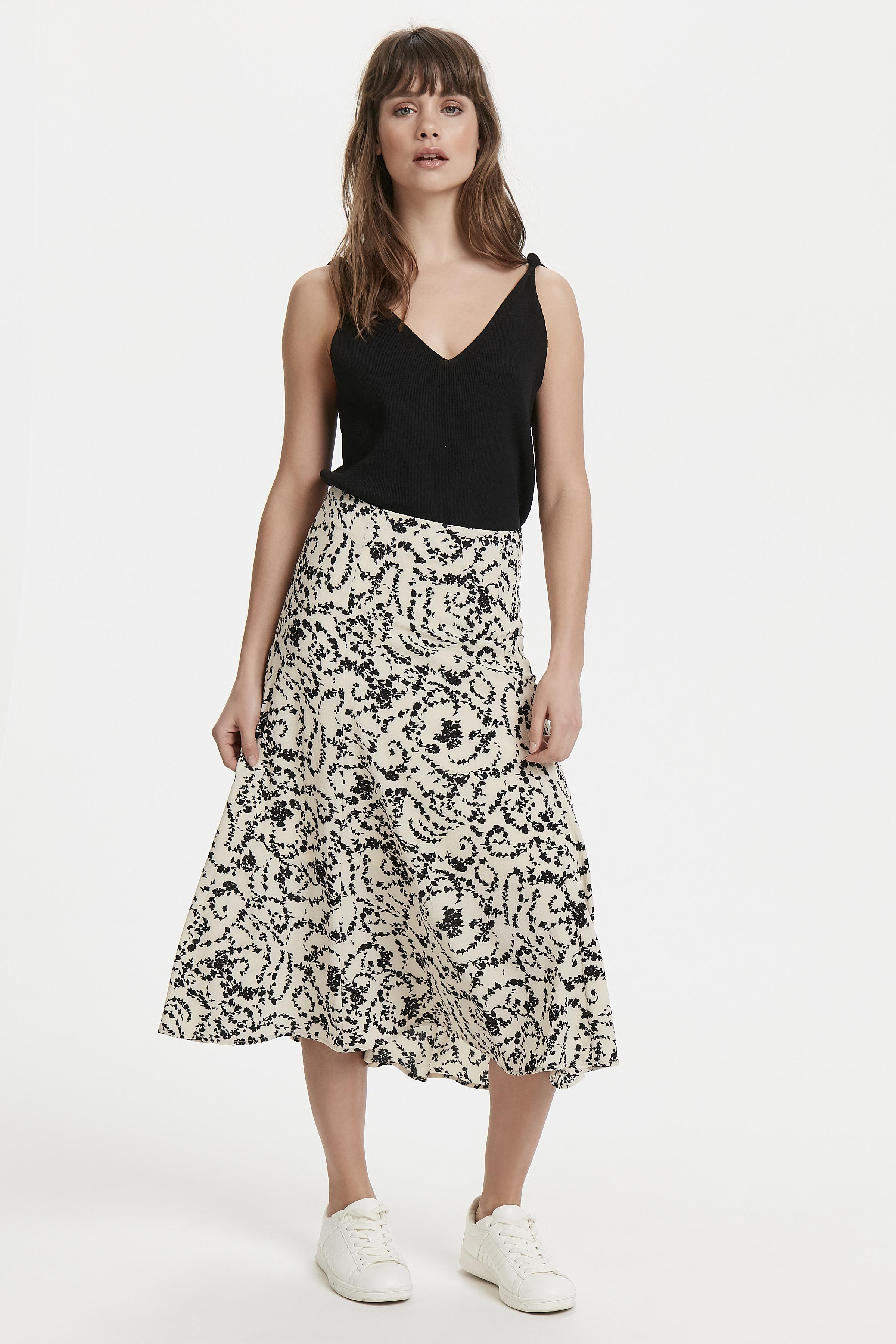 White Swan Skirt fra Ichi – Køb White Swan Skirt fra str. 34-42 her