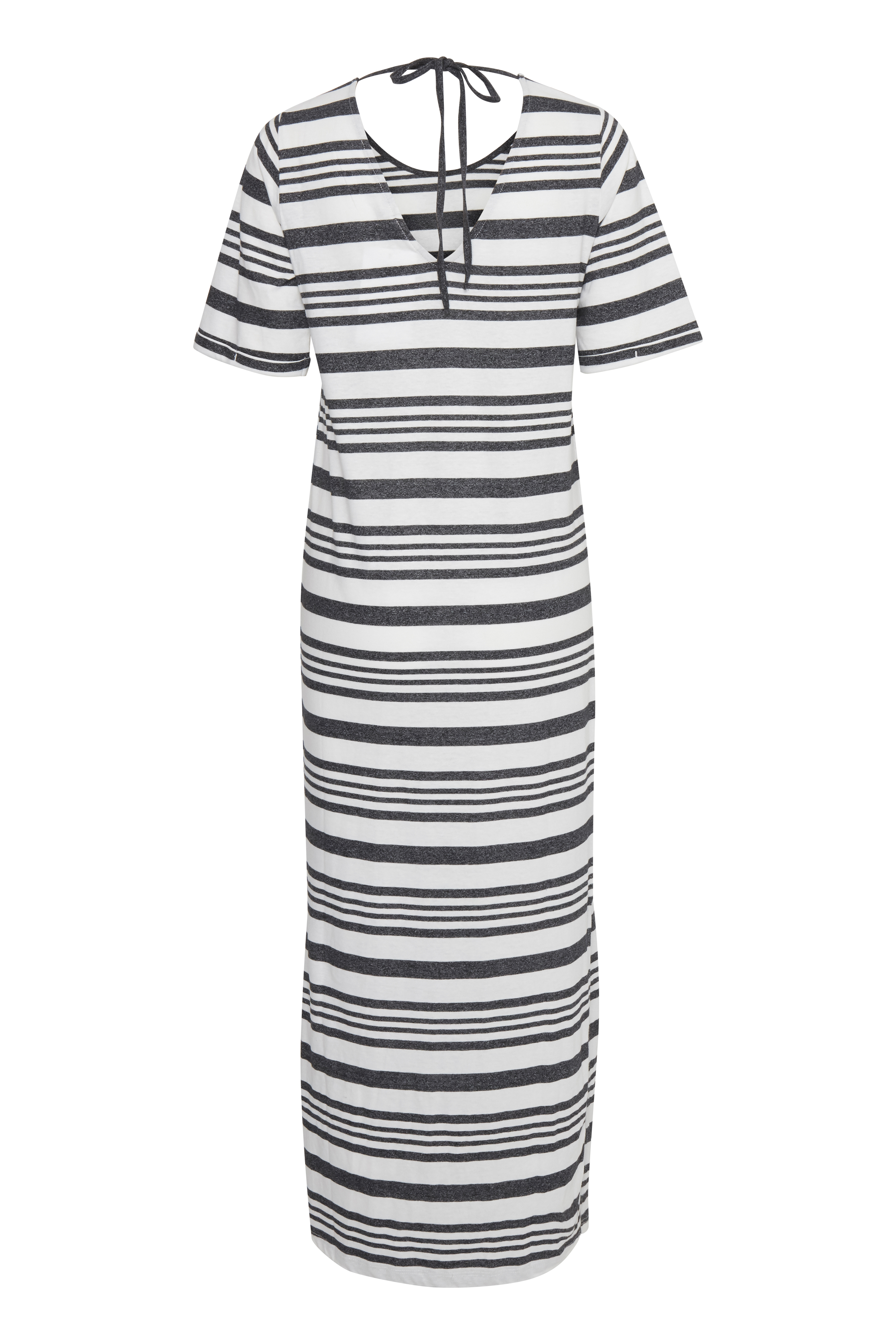 Wide Stripe Black Jerseykjole – Køb Wide Stripe Black Jerseykjole fra str. XS-XL her