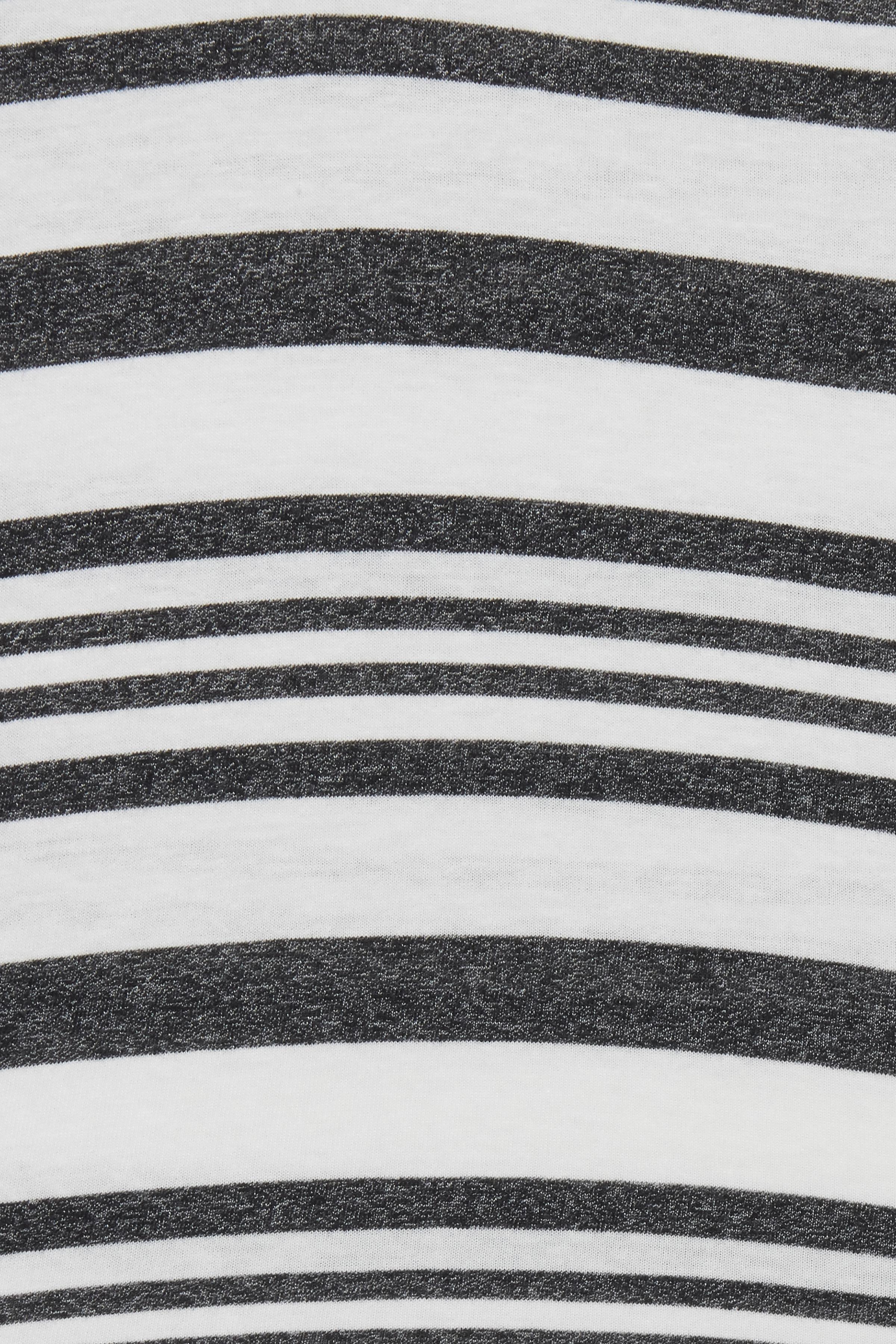 Wide Stripe Black T-shirt – Køb Wide Stripe Black T-shirt fra str. S-XL her