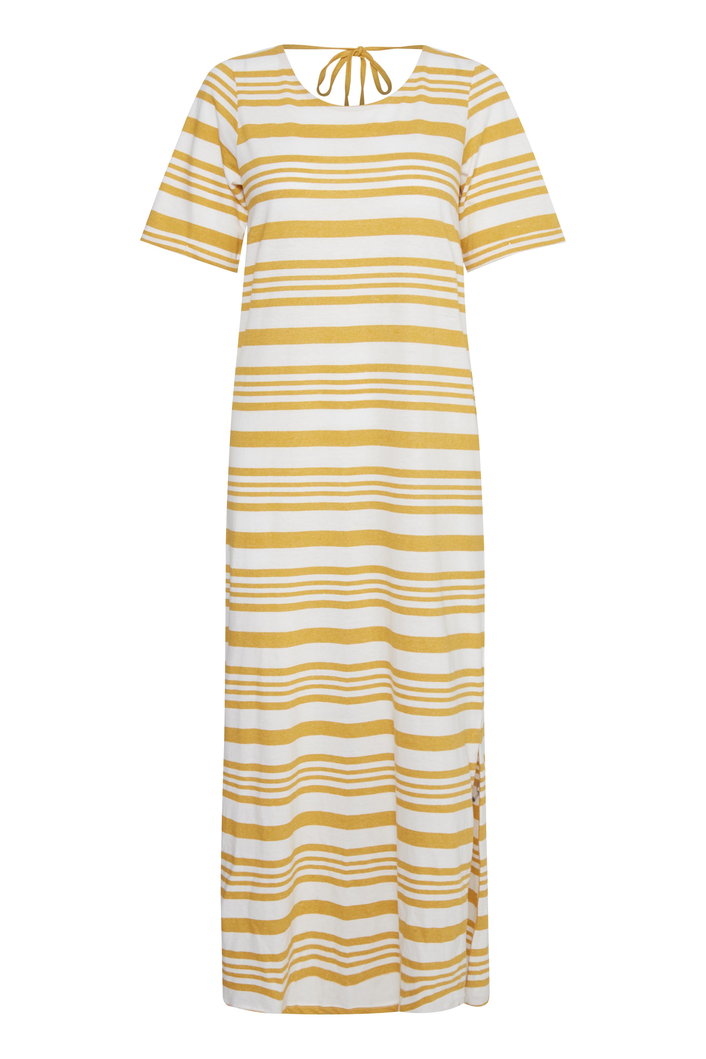 Wide Stripe Mango Mojito Jerseykjole – Køb Wide Stripe Mango Mojito Jerseykjole fra str. XS-XL her